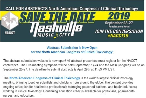 NACCT - The American Academy of Clinical Toxicology