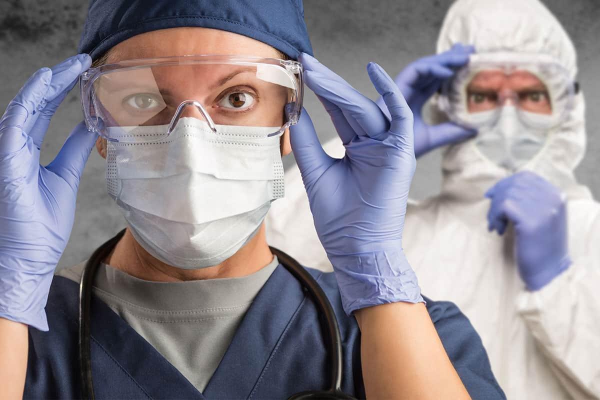 Doctors wearing Personal Protective Equipment